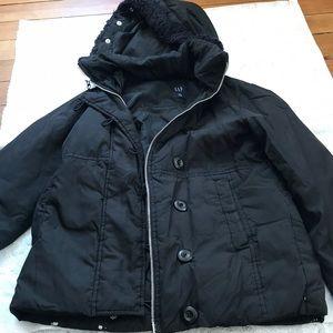 Black puffy winter coat
